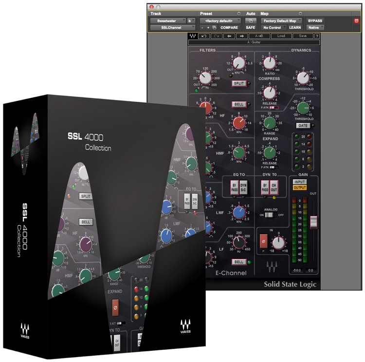 waves ssl 4000 collection plug in bundle. Black Bedroom Furniture Sets. Home Design Ideas