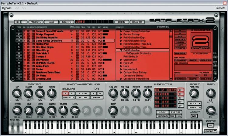 Ik Multimedia Sampletank 2 5 L Virtual Instrument