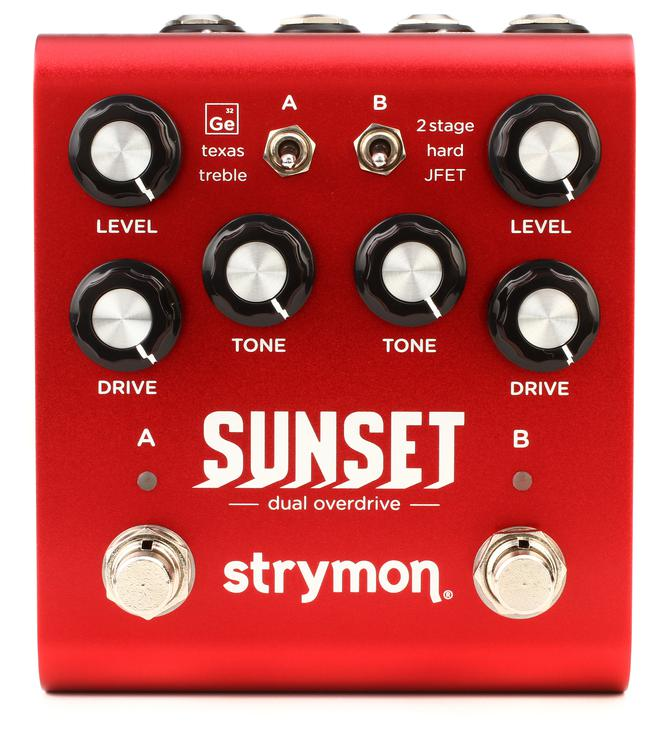 strymon sunset dual overdrive pedal review sweetwater. Black Bedroom Furniture Sets. Home Design Ideas
