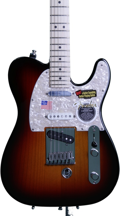 fender american nashville b bender telecaster 3 color sunburst. Black Bedroom Furniture Sets. Home Design Ideas