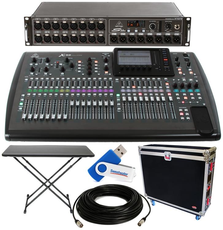 behringer x32 32 channel digital mixer package w tour hard case and digital snake. Black Bedroom Furniture Sets. Home Design Ideas