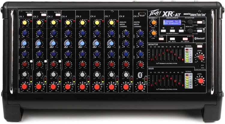 peavey xr at 9 ch powered mixer with auto tune. Black Bedroom Furniture Sets. Home Design Ideas