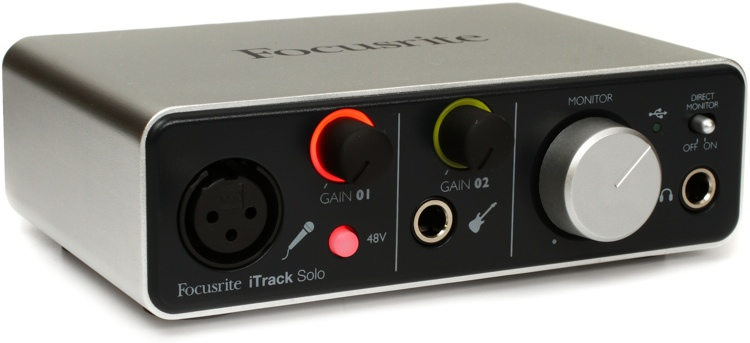 focusrite itrack solo usb ios audio interface overview. Black Bedroom Furniture Sets. Home Design Ideas