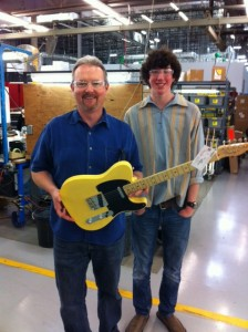 Andy Orr on his Fender factory tour