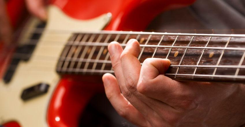 learning bass guitar