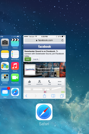 how to close running apss on ios