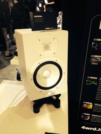 Live from namm yamaha hs monitors in white sweetwater for Yamaha hs8 price