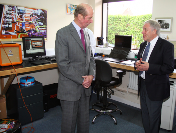 The Duke of Kent (L) with Cliff Cooper, founder and CEO of Orange (R)