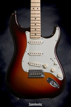 guitar of the day fender american deluxe strat plus sweetwater the strat s history shows it to be one of the most modded hot rodded deconstructed and reconstructed electric guitars especially the electronics