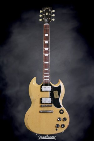 Guitar Of The Day Gibson Custom Sg Standard Heavy Aged Tv Yellow