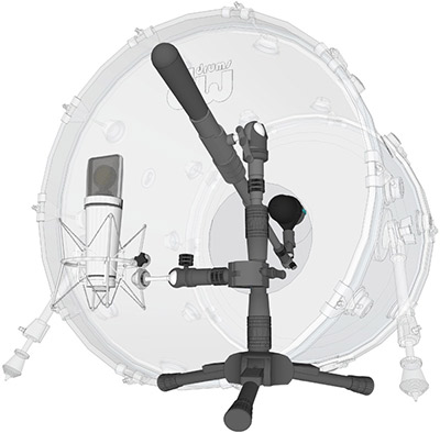 Triad-Orbit Complete Kick Drum System Mic Stand System