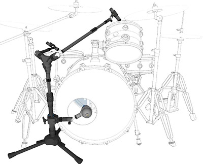 Triad-Orbit Kick and Dual Tom System Mic Stand Package