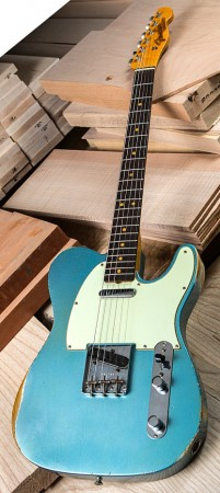 The Fender Custom Shop 1963 Time Machine Relic Telecaster Solidbody Electric Guitar Delivers Authentic Visuals In A Highly Playable Instrument