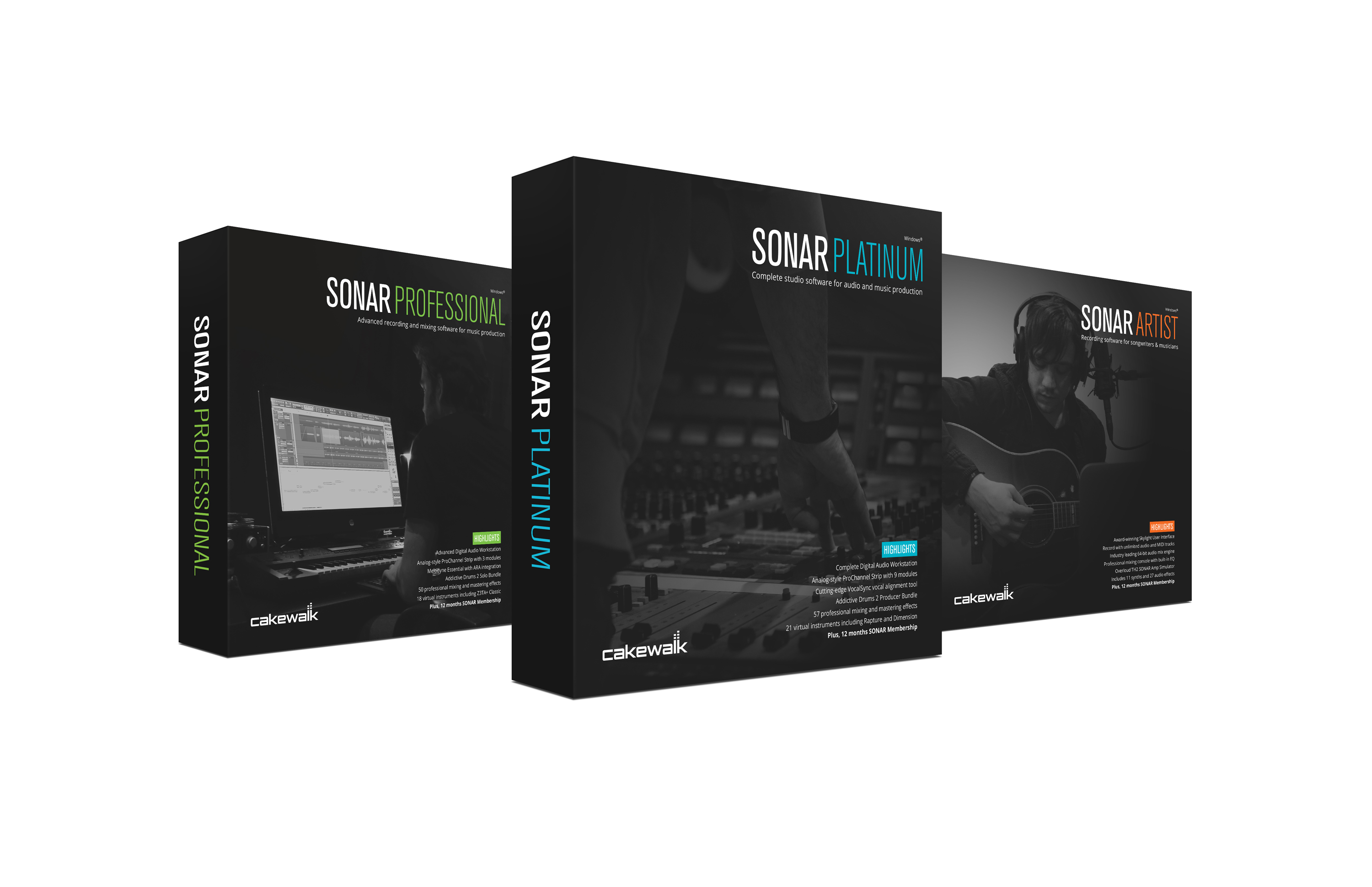 Cakewalk Announces New SONAR Family | Sweetwater
