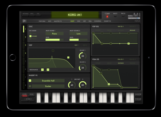 Korg Releases M1 as iPad App | Sweetwater