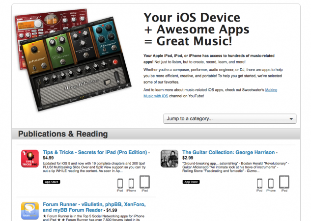 IOS Music Apps Resource | Sweetwater