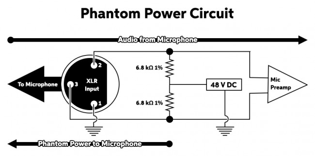 how phantom power works sweetwater rh sweetwater com Boiler Wiring Diagram 24 Volt Thermostat Wiring Diagram