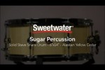 Sugar Percussion Solid Stave Alaskan Yellow Cedar Snare Drum Review