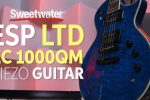 ESP LTD EC-1000QM Piezo Electric Guitar Demo