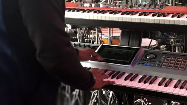 Erskine Hawkins on Tour with Eminem - Check Out His Keyboard