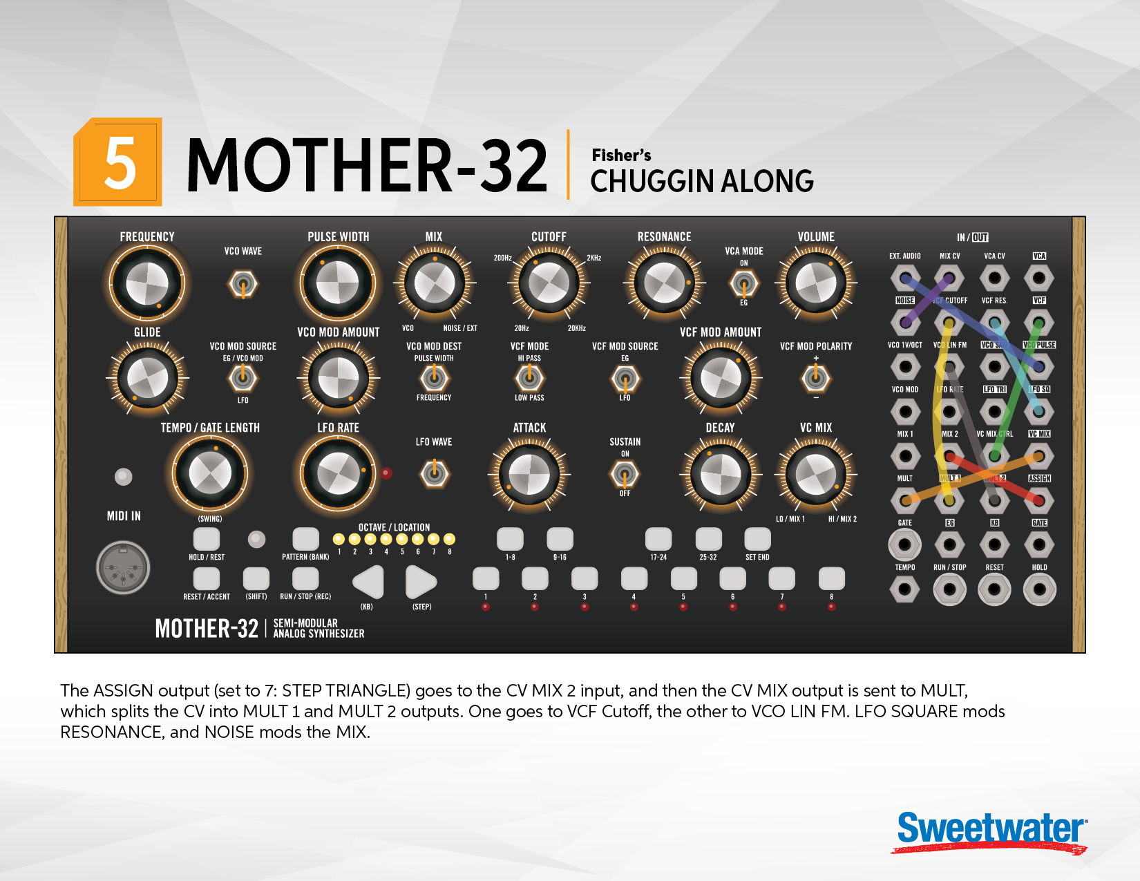 moog mother 32 patch sheets with videos sweetwater