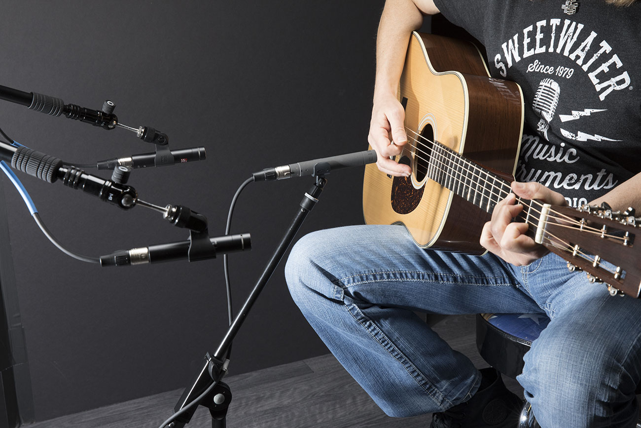 acoustic guitar recording techniques of the pros sweetwater. Black Bedroom Furniture Sets. Home Design Ideas