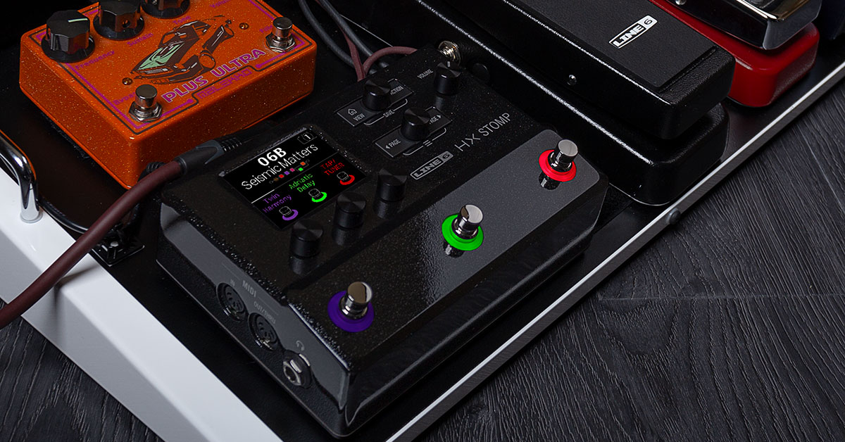First Look: Line 6 HX Stomp | Sweetwater