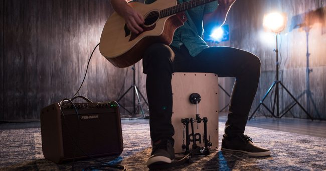 Self-contained Percussion Rigs for the Singing Guitarist | Sweetwater