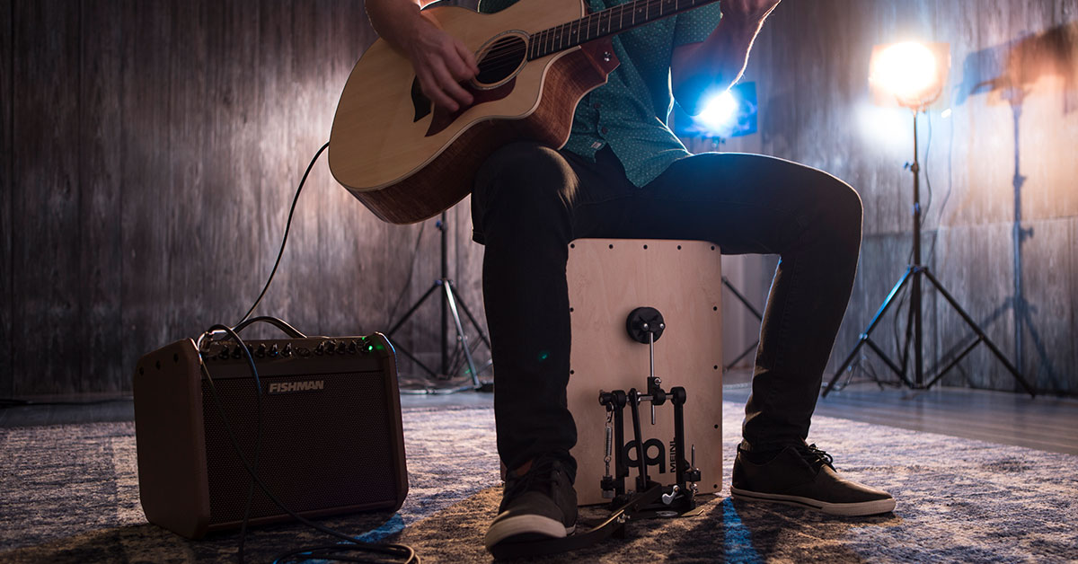 Self-contained Percussion Rigs for the Singing Guitarist