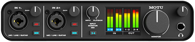 Front of M4 Audio Interface