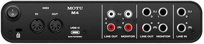 Back of M4 Audio Interface