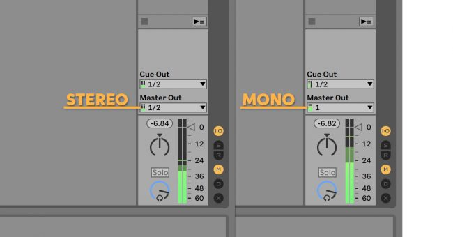 Ableton Live Stereo or Mono Master Output
