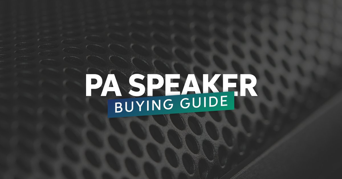 Pa Speaker Buying Guide Sweetwater