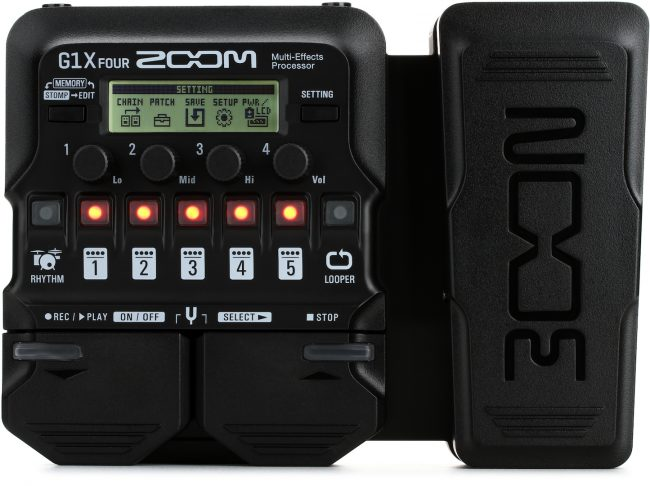 Zoom-G1X-FOUR-Multi-effects-Processor-with-Expression-Pedal