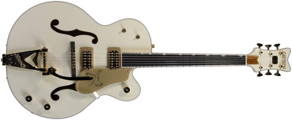 Upon Its First Showing At Various Music Trade Shows In 1954 More Than A Half Century Ago The Gretsch White Falcon Was Dubbed Most Beautiful