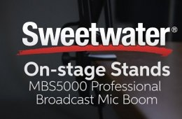 On-Stage Stands MBS5000 Professional Broadcast Mic Boom