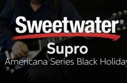 Supro Americana Series Black Holiday Electric Guitar Demo
