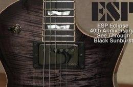 ESP Eclipse 40th Anniversary Guitar in See-Through Black Sunburst...