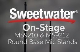On-Stage Stands MS9210 & MS9212 Round Base Mic Stands