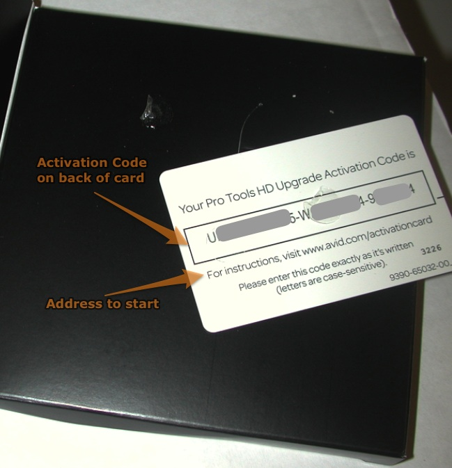 activation code card