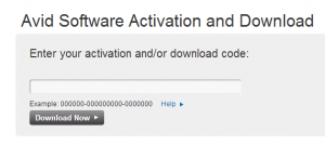Avid Software Activation and Download