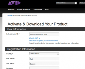 """""""Activate and Download Your Product"""" information page"""