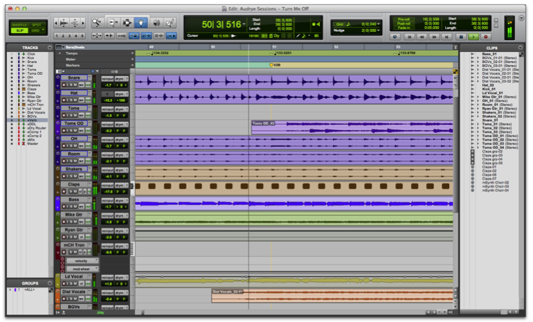 Intro to pro tools viewing the edit and mix windows sweetcare