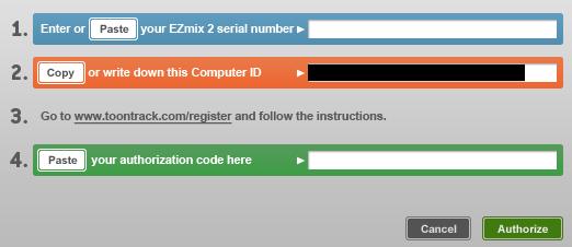 ezdrummer2 keygen wont save authorization code