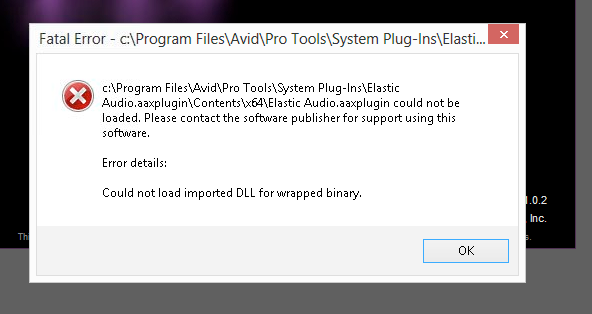 I'm receiving a Fatal Error when trying to start Pro Tools