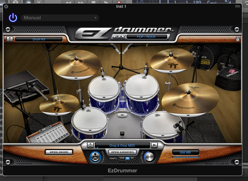 How do I add instrument plug-ins (such as EZDrummer) in the