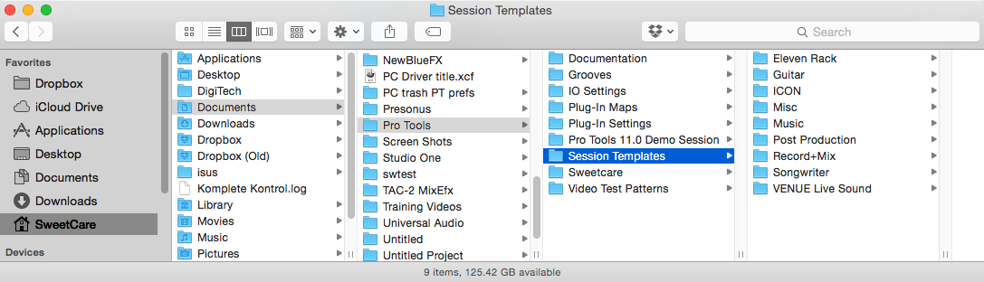Where Are My Pro Tools Templates Stored On My Mac Sweetwater