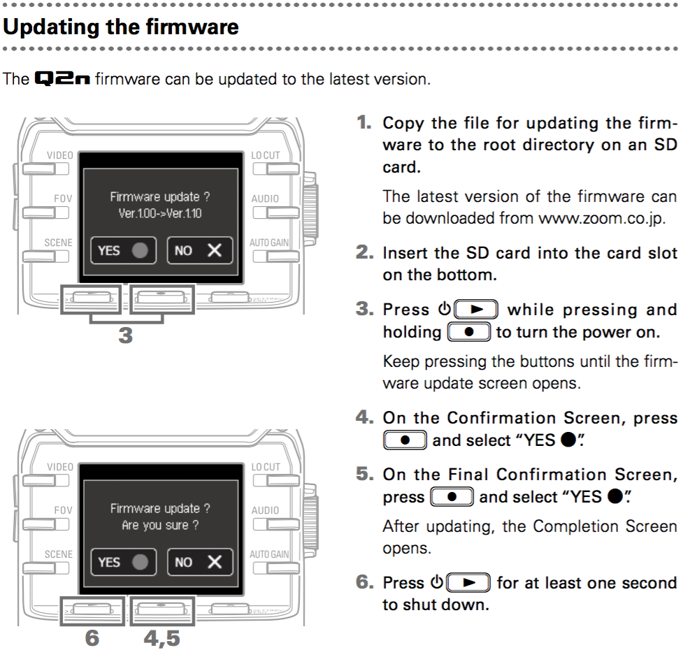 How do I update the firmware on my Zoom Q2n? | Sweetwater