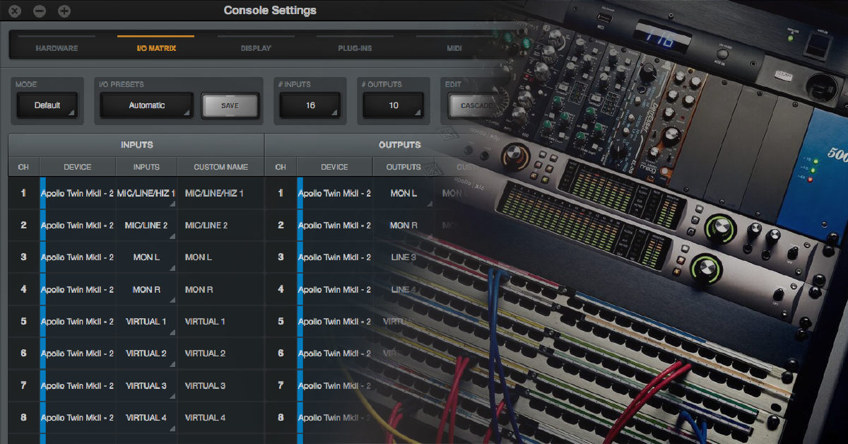 Universal Audio Apollo Console Routing Explained | Sweetwater